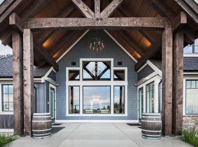 custom home entrance way in abbotsford, bc