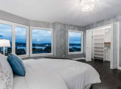 custom home bedroom design in vancouver, bc