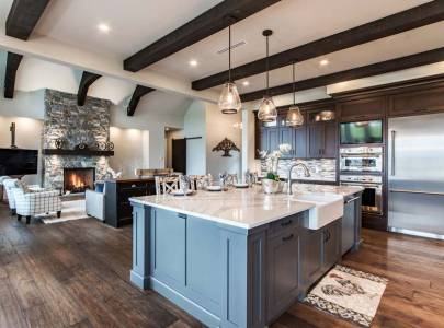 beautiful custom kitchen design for an abbotsford modern farm house