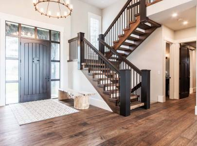 custom home staircase in abbotsford, bc