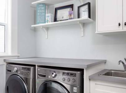 custom home laundry room in abbotsford, bc