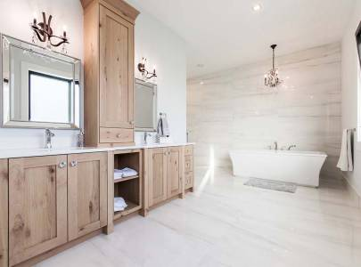 custom bathroom design for ross road home in abbotsford, bc