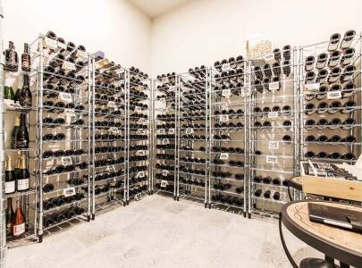 custom home wine cellar in abbotsford, bc