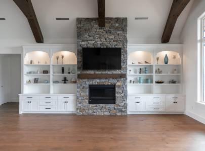 Living Room with TV - Lindan Homes