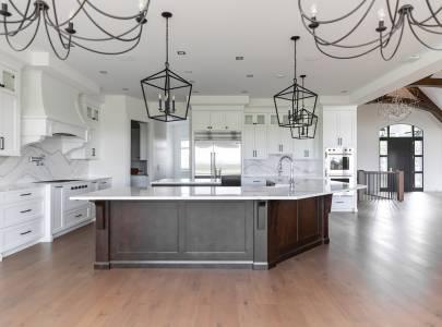 Kitchen with Unique Design - Lindan Homes