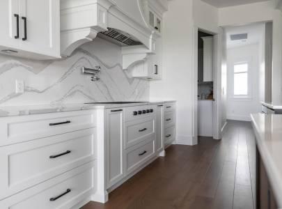 White Design of Kitchen - Lindan Homes