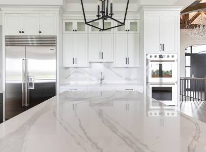 Marble Work in Kitchen - Lindan Homes